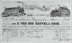 Briefhoofd van A. van den Heuvel & Zoon uit 1877.
