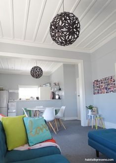 The modest rental has been given a new lease on life, with a fresh colour palette of Resene Atmosphere on the walls with Resene Half Pearl Lusta on the ceiling and trims.