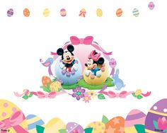 Easter Mickey and Minnie Mickey Mouse And Friends, Mickey Mouse Birthday, Mickey Minnie Mouse, Disney Mickey, Disney Art, Minnie Mouse Pictures, Disney Pictures, Disney Pics, Baby Disney