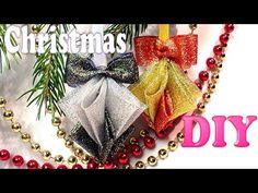 Елочные игрушки из лент на Новый Год | DIY Christmas decorations Kanzashi Tatiana Vasyliuk - YouTube