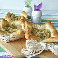 Cestini di sfoglia ai carciofi e formaggio Piave Mezzano con sformatini ai carciofi