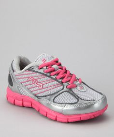 Take a look at this Pewter & Pink 2a Advanced Running Shoe by FILA on #zulily today!