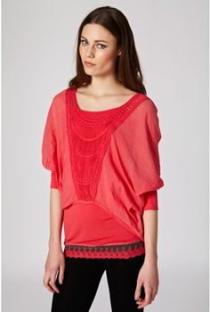 Embroidered Kimono Top - Tops - Clothing