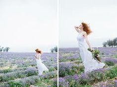bohemian style lavender field