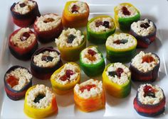 Rice Krispie treats + gummies + fruit by the foot = Candy Sushi