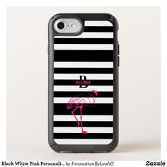 Black White Pink Personalized Gift Monogram HER Speck iPhone Case