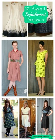 10 sweet refashioned dresses
