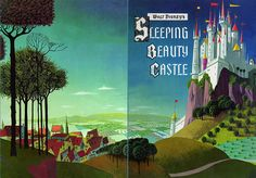 Disneyland Castle souvenir book cover 1956 Front and Back Covers scanned from…