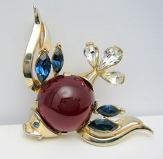 1953 Patented Figural Fish Brooch SOLD