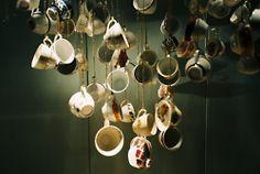 teacup mobile- great kitchen decoration