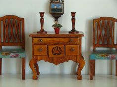 Vintage Tynietoy Doll House Miniature Chippendale Lowboy 1920s