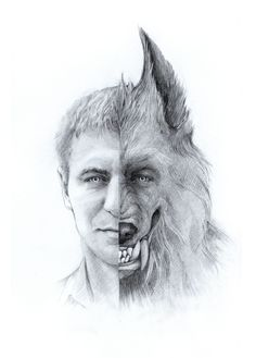 werewolf Horror Films, Horror Art, Fantasy Creatures, Mythical Creatures, Of Wolf And Man, Werewolf Art, Vampires And Werewolves, She Wolf, Creatures Of The Night