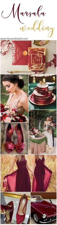 marsala and #goldwedding #4lovepolkadots #wedding #weddingtheme #wedding #marsalawedding #weddinginvitations #weddinginvitation #burgundy #fallwedding