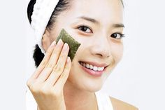 Going Green: Green tea face masks, scrubs, packs (pictured), eye compresses and bath soaks are all popular products that make use of the tea's natural benefits Easy Face Masks, Homemade Face Masks, Best Beauty Tips, Beauty Hacks, Beauty Secrets, Top Beauty, Beauty Stuff, Beauty Ideas, Mask For Oily Skin