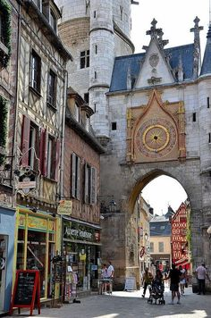 Clock tower in Auxerre, France