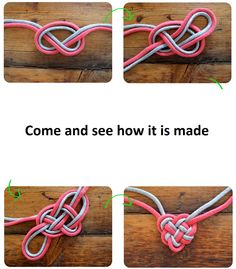 punontaohjeita näppärille välikässyiksi... Do It Yourself: Celtic heart knot necklace Tips and More Ideas