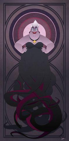Serie de villanos de Disney Ursula por JonMendez en Etsy
