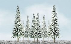 """JTT Scenery Products O 92008 (TR-2008) Scenic Snow Spruce Pack 6"""" to 10"""" (12-Pack) 