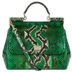 Dolce & Gabbana Medium Sicily Python Top Handle Bag ($3,130) ❤ liked on Polyvore featuring bags, handbags, tote bags, top handle handbags, tote purse, python handbag, structured tote and handbags totes