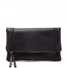 Women's Red Vegan Leather Vegan Foldover Clutch | Marlena by Sole Society