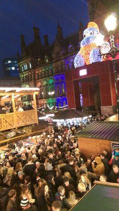 Big Santa at the #Manchester Christmas Markets , #xmas #travel