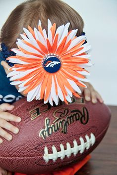 Denver Bronco Hair Flower Crochet Headband with by TeensyCouture, $12.95