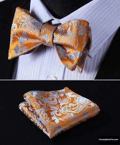 b0acdf39325b Paisley Floral Jacquard Woven Men bow tie, Wedding Butterfly Self Bow Tie  Pocket Square Handkerchief Set Hanky Suit