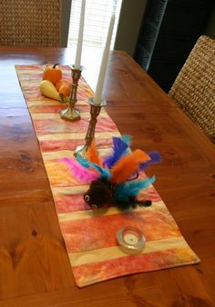 A Little Color for the Table. Fall table runner with tutorial.