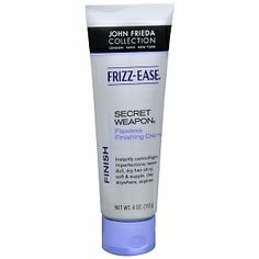John Frieda Frizz-Ease Secret Weapon Flawless Finishing Creme: last step in my hair care cocktail..AWESOME stuff.