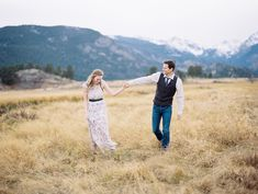 Kalyn + Theo's engagement session in the rugged Rocky Mountain National Park at Estes Park was absolutely breathtaking! Take a look at these beauts!