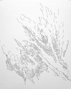 Colin Keefe's exhibition will give attention to his Architectural Pollination collection, which implements a organic interpretation of a metropolis's evolution Architecture Mapping, Architecture Graphics, Architecture Drawings, Landscape And Urbanism, Technical Drawing, Artist Art, Planer, Love Drawings, Illustration