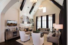 Huntington Homes | Phillips Creek Ranch | Living Room | Frisco, TX | Plan 6171D