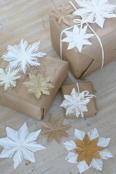 Pikkuhiljaa on aloitettu jouluvalmistelu ja lapset tykkää kovasti askarrella näitä paperitähtiä. Hauska idea on käyttää tähtiä pakettien ja...