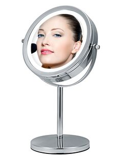 Optical Instruments Original Shaking Led Folding Mirror Desktop With Lamp Vertical Double-sided Magnification Makeup Mirror 100% Original Magnifiers