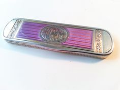 A rare guilloche enamel silver toothpick-box French. Former collection.