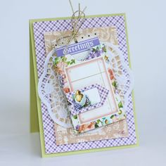 A Busy Little Craftee Bee: Greetings: Scrapbook Adhesives by 3L & Graphic 45 Blog Hop. Latisha Yoast made this beautiful Sweet Sentiments card #graphic45 #scrapbookadhesives