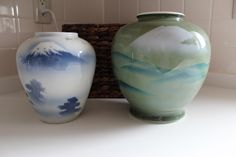 Gorgeous Fukagawa Vases.