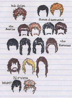 Bob Dylan, Les Beatles, Beatles Art, Simon Garfunkel, Rock Roll, Nirvana, Pink Floyd, Andrew Vanwyngarden, Musical Hair
