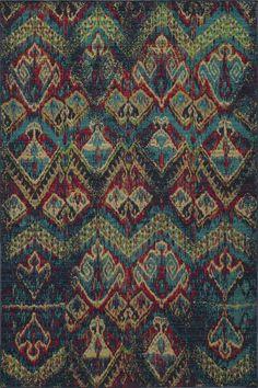seriously beautiful! Momeni Vintage Blue Ikat Rug