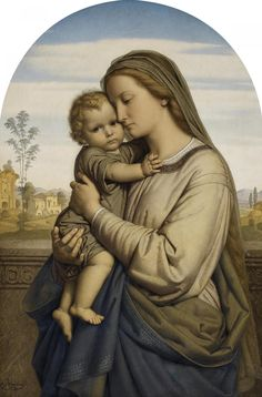 Mater Christi by Franz Ittenbach in Alte Kunst on May 2016 at the null null sale lot 577 Blessed Mother Mary, Divine Mother, Blessed Virgin Mary, Christian Images, Christian Art, Catholic Prayers, Catholic Art, Religious Images, Religious Art