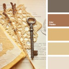 "Warm shades of sand and cinnamon colours from this colour palette are suitable both for interior decor in a style of ""Shabby Chic"" and for a wedding decor.."