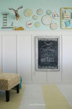 Embroidery Hoop Chalkboard