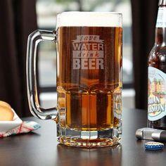 Fancy - Save Water Drink Beer Colossal Beer Mug
