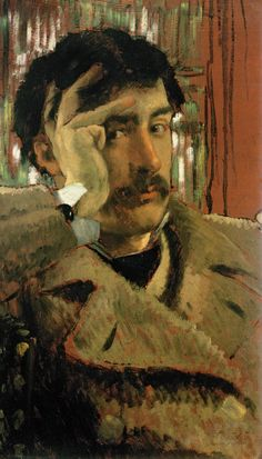 Self portrait, c.1865 (oil on panel), by James Tissot.   Fine Arts Museums of San Francisco, CA, USA. You'll find Tissot's Self-Portrait (c. 1865) at The California Palace of the Legion of Honour, San Francisco.  Acquired as part of the Mildred Anna Williams Collection in 1961, this self-portrait shows him at 29, ready for – though perhaps wary of – the spectacular success he would earn in Paris during the five years before the Franco-Prussian War broke out.