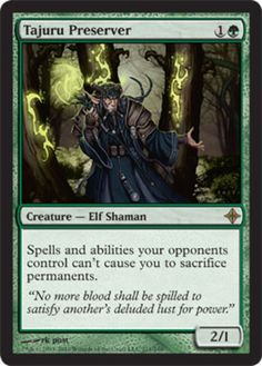 Tajuru Preserver mtg Magic the Gathering Rise of the Eldrazi green elf rare modern