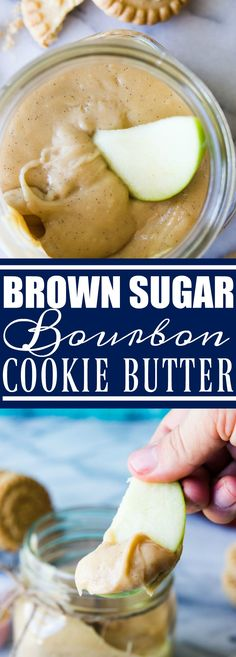 Brown Sugar Bourbon Cookie Butter is made with shortbread cookies, vanilla bean, brown sugar and of course..bourbon!! Perfect for snacking on, using in recipes that call for cookie butter, giving as a gift, or just eating with a spoon!