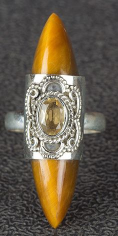 Tiger Eye Jewellery – Tiger Eye Ring, 925 Sterling Silver, Awesome Ring – a unique product by Midas-Jewelry on DaWanda Tiger Eye Jewelry, Tribal Jewelry, Unique Jewelry, Aztec Rings, Silver Earrings, Silver Jewelry, Gypsy Rings, Tigers Eye Gemstone, Citrine Gemstone