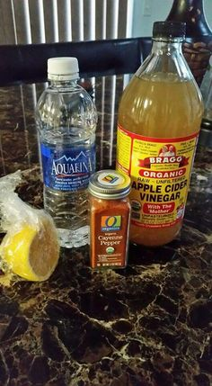 It doesn't taste so good ladies, but it works. 4 oz of water 2 tablespoons of apple cider vinegar 2 pinches of cayenne pepper A squeeze of lemon juice DETOX AND GET RID OF STOMACH FAT