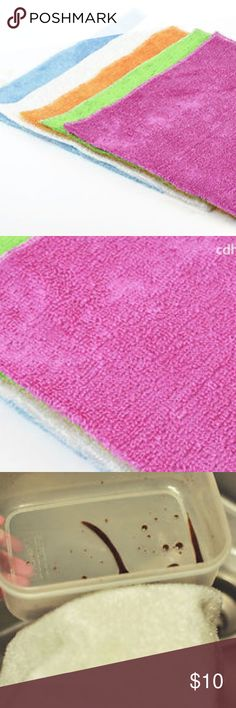 """5 Bamboo Fiber Antibacterial Cleaning Towel - 100% Bamboo Fiber; Bamboo fiber has the function of deodorization, high water absorption, anti-bacterial, oil repealing abilities, anti-static. - Size:10.5"""" x 11.5"""" - Packaging: 5 pieces - Color: White, Red, Green, Yellow, Blue - Automotive: Absolutely the best for cleaning, drying, waxing and polishing your car, boat, motorcycle, etc. Lint-Free,Streak-Free,Scratch-Free,don't do any worn and damage to the cleaning surface. - General Cleaning…"""