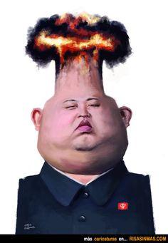Caricatura de Kim Jong-un.